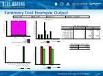 summary tool example output