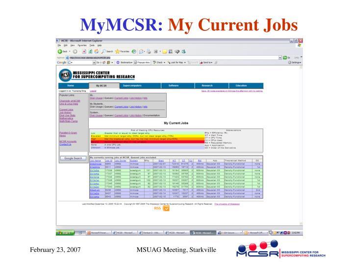 MyMCSR: