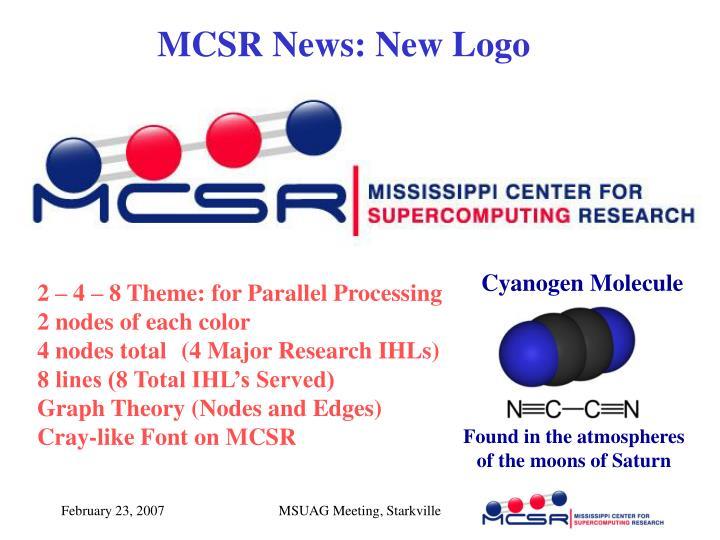 MCSR News: New Logo