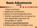 basis adjustments 1 of 2