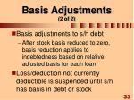 basis adjustments 2 of 2