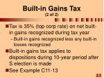 built in gains tax 2 of 2