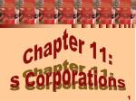 chapter 11 s corporations