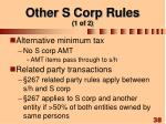 other s corp rules 1 of 2