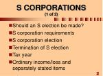 s corporations 1 of 2