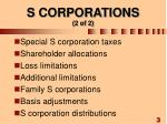 s corporations 2 of 2