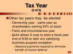tax year 2 of 2