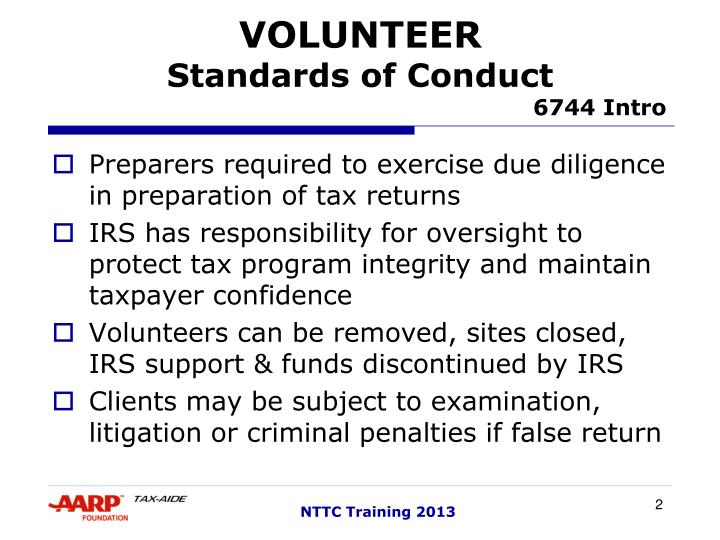 Volunteer standards of conduct 6744 intro