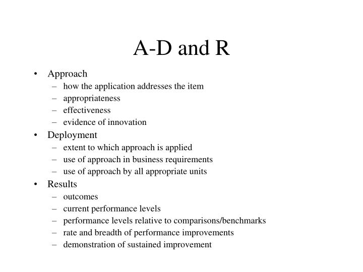 A-D and R