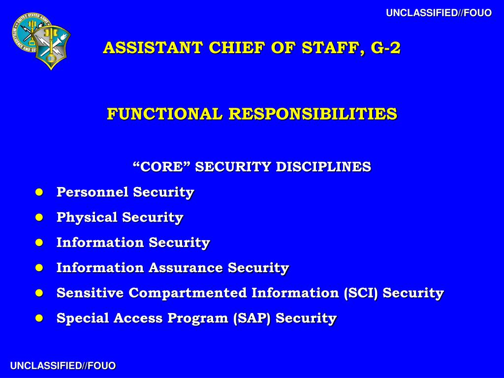 PPT - Overview of USAINSCOM Assistant Chief of Staff