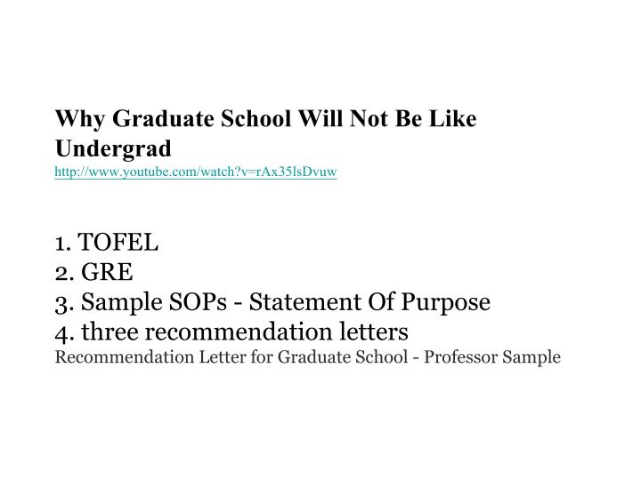 Why Graduate School Will Not Be Like Undergrad