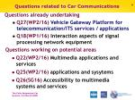 questions related to car communications