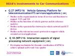 sg16 s involvements to car communications