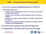 vgp current status future plans