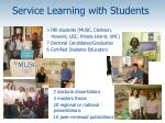 service learning with students
