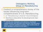 interagency working group on manufacturing