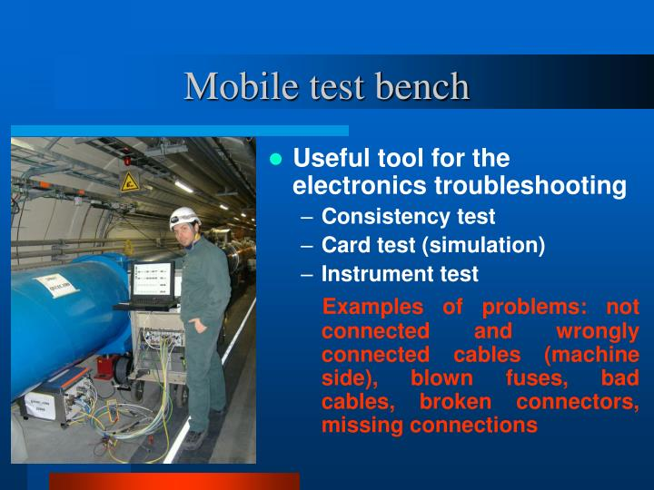 Mobile test bench