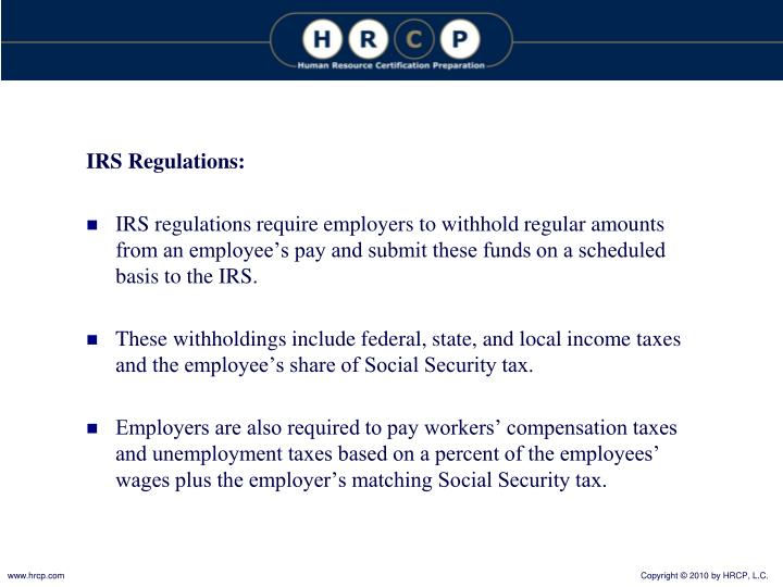 IRS Regulations: