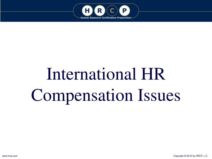 International HR