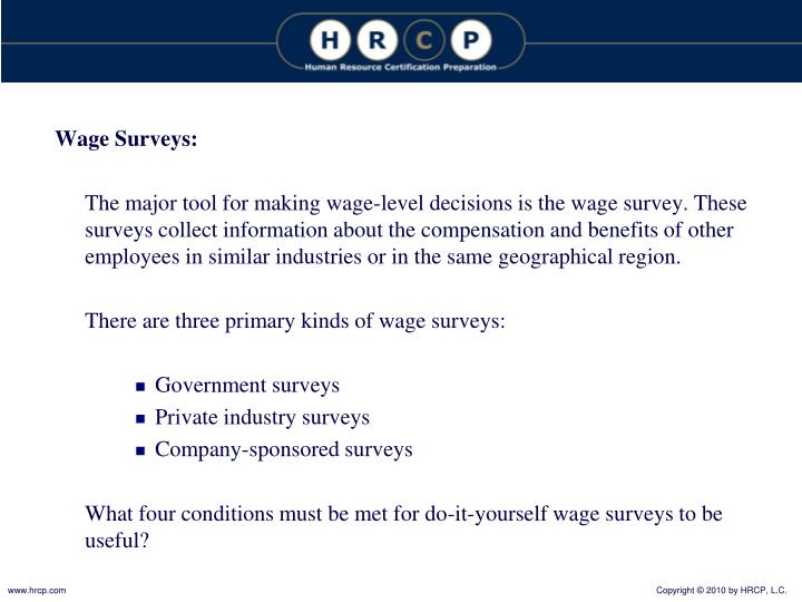 Wage Surveys: