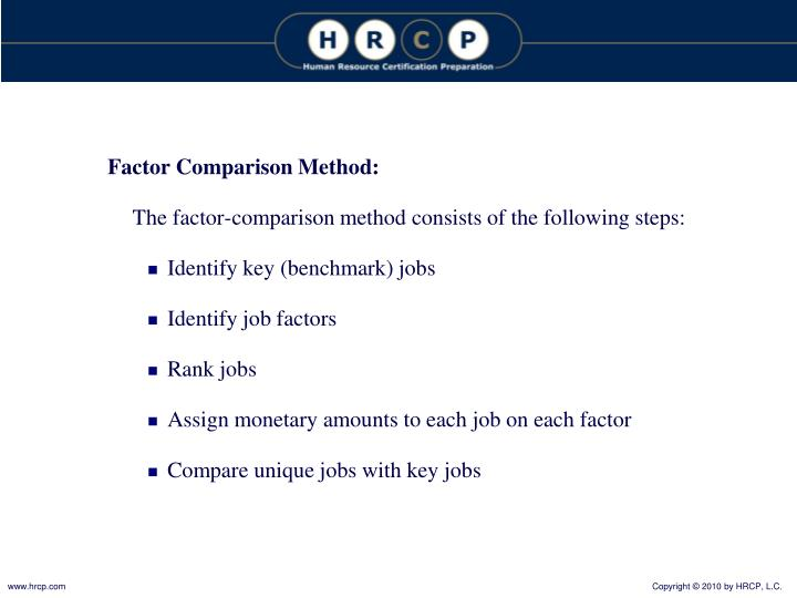 Factor Comparison Method: