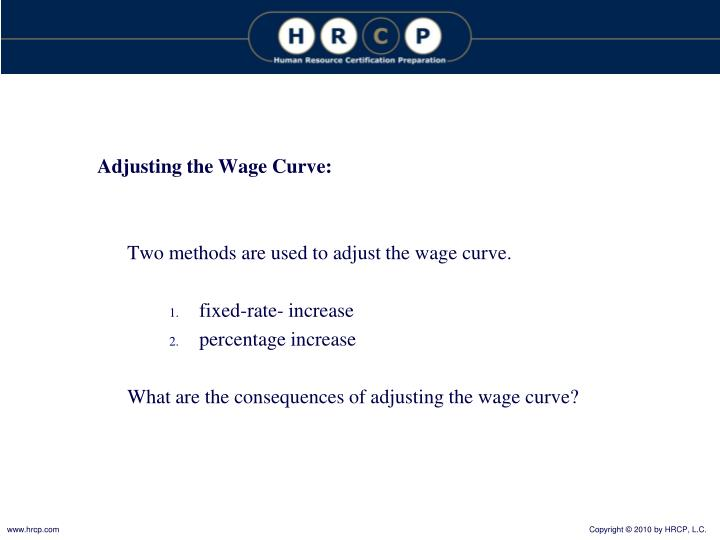 Adjusting the Wage Curve: