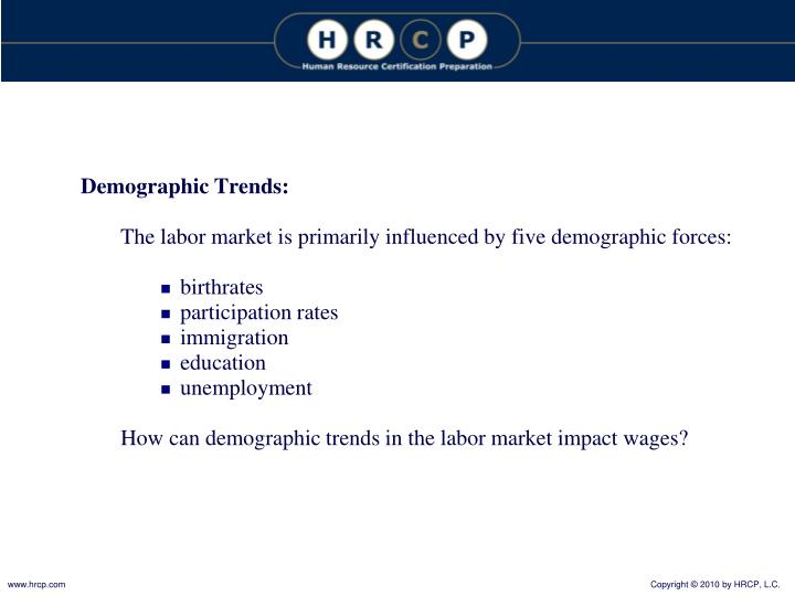 Demographic Trends: