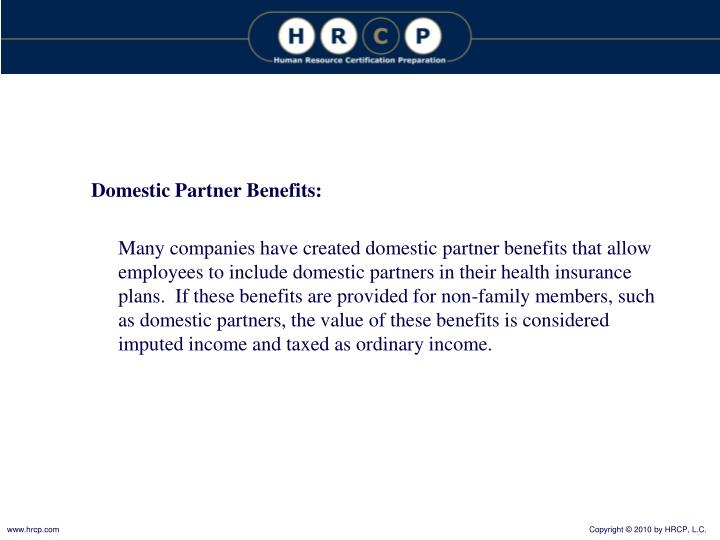 Domestic Partner Benefits: