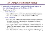 jet energy corrections at startup
