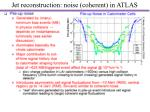 jet reconstruction noise coherent in atlas