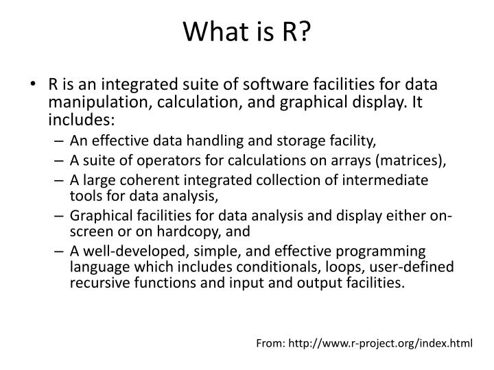 What is r
