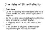 chemistry of slime reflection