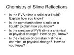 chemistry of slime reflections