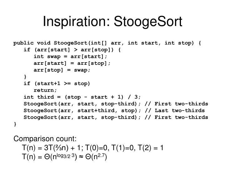 Inspiration: StoogeSort
