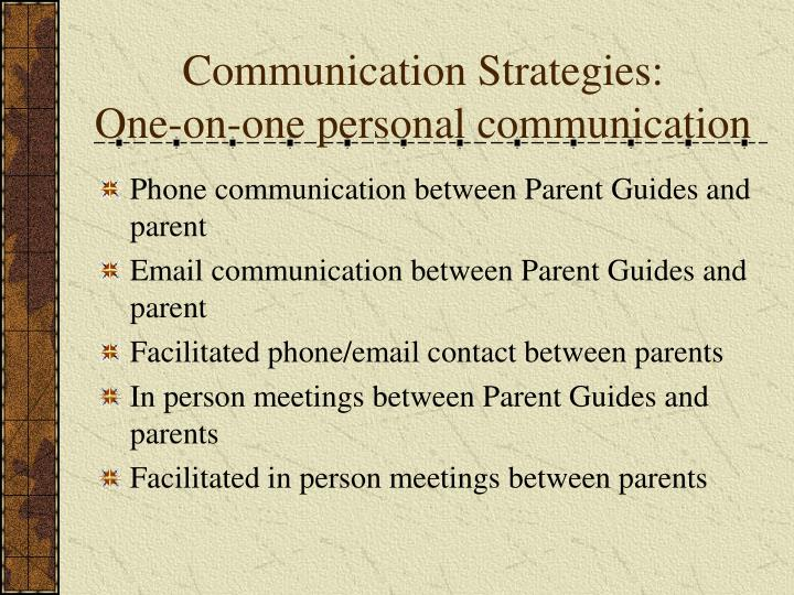 Communication Strategies: