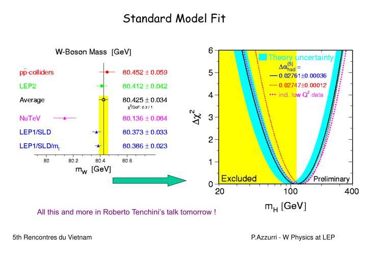 Standard Model Fit