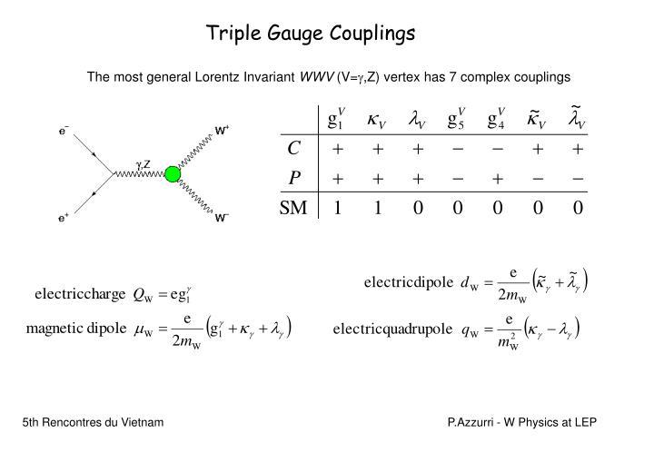 Triple Gauge Couplings