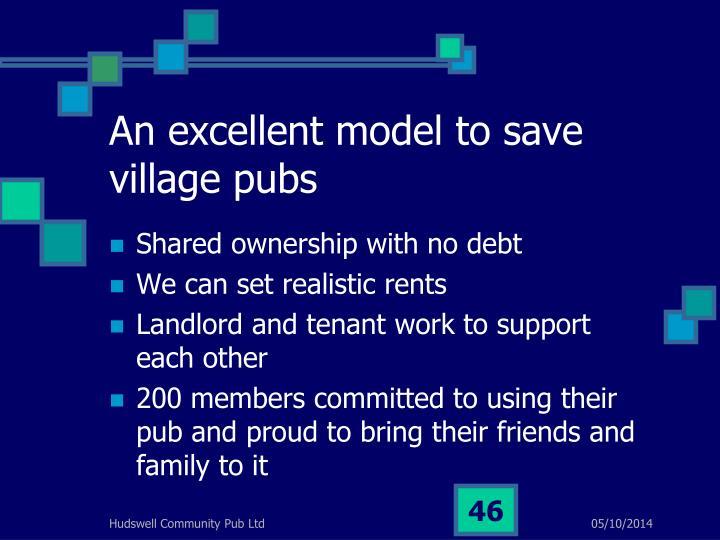 An excellent model to save village pubs