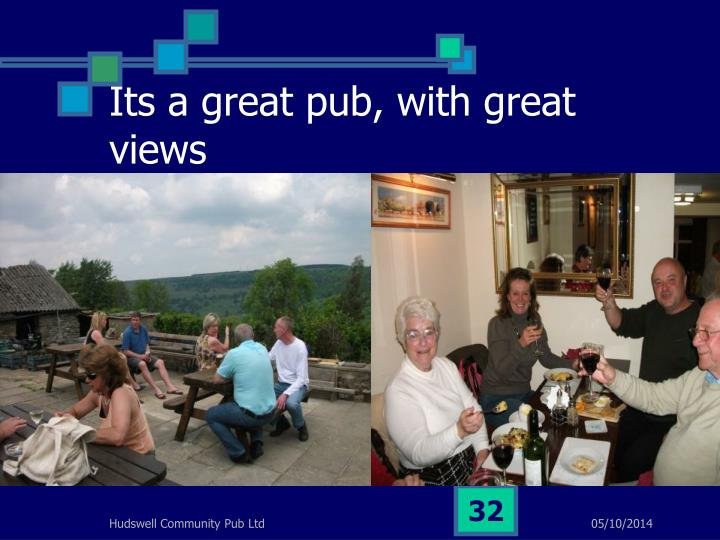 Its a great pub, with great views