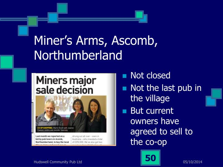 Miner's Arms, Ascomb, Northumberland