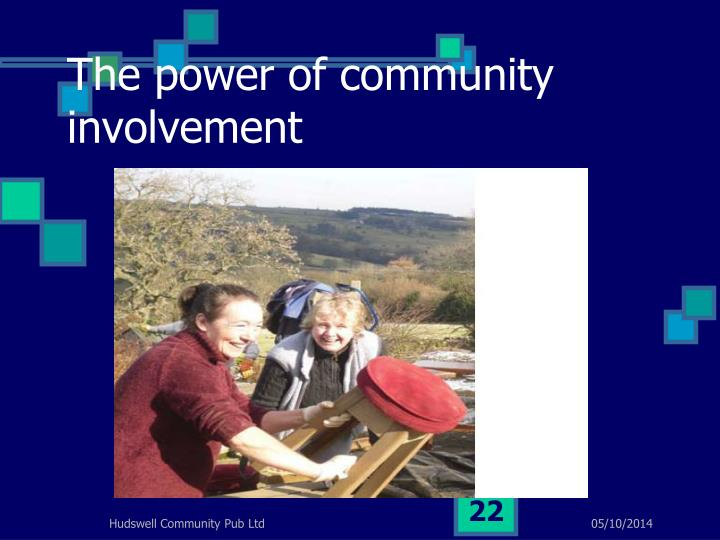 The power of community involvement