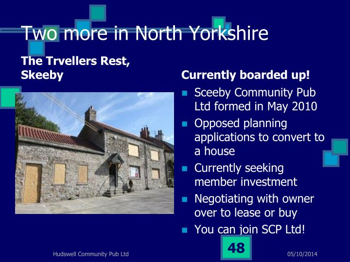 Two more in North Yorkshire