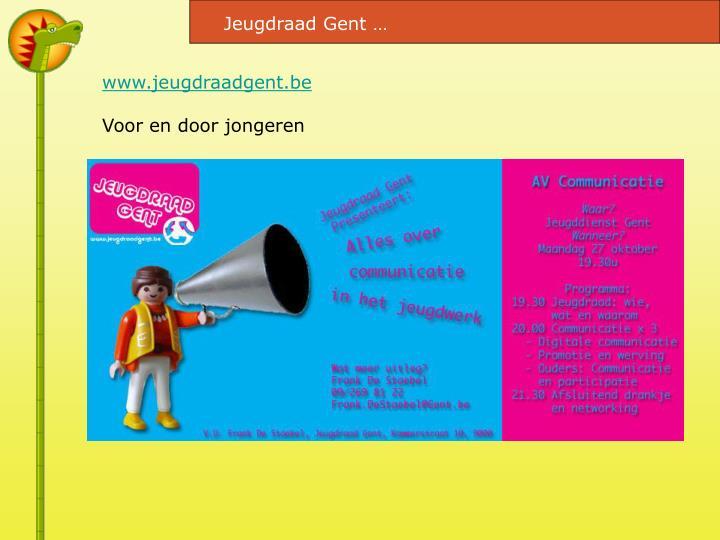 Jeugdraad Gent …