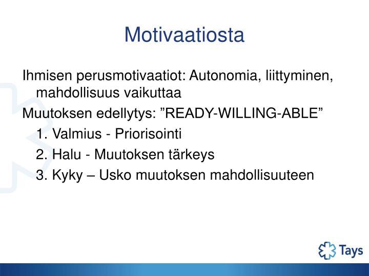 Motivaatiosta