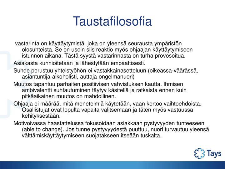 Taustafilosofia