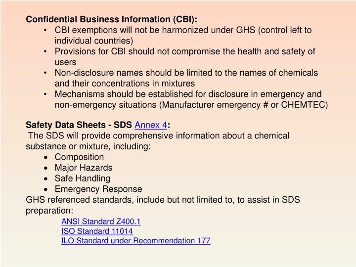 Confidential Business Information (CBI):