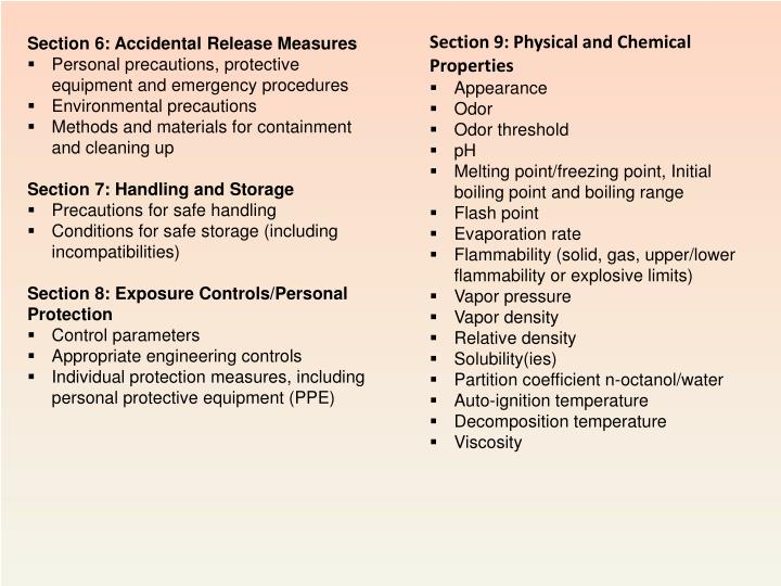 Section 9: Physical and Chemical Properties