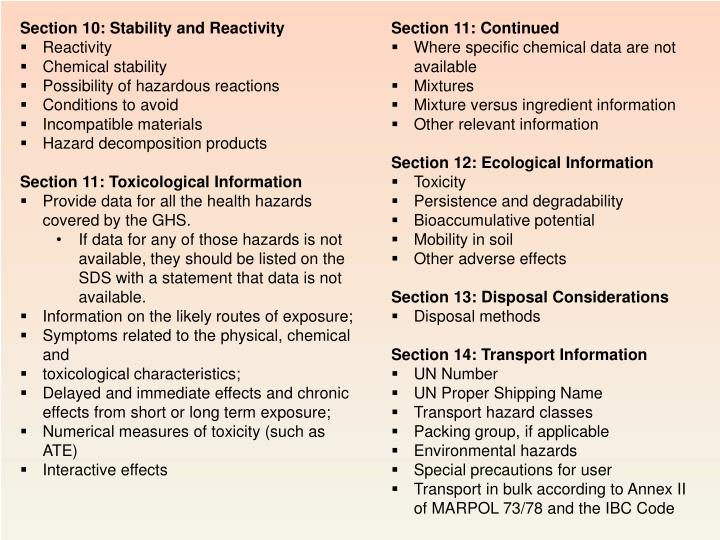 Section 10: Stability and Reactivity