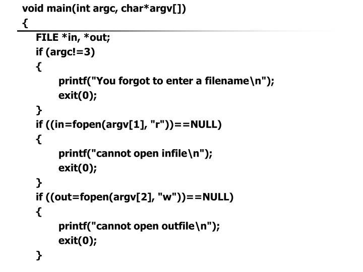 void main(int argc, char*argv[])