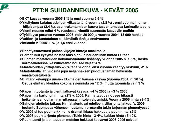 PTT:N SUHDANNEKUVA - KEVÄT 2005
